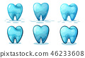 tooth cartoon background 46233608
