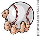 baseball hand ball 46235208