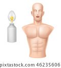 human body for training of artificial respiration 46235606