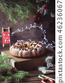 Homemade christmas cake 46236067