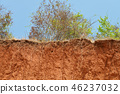 Layered cut of soil. 46237032