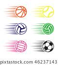 sport, ball, vector 46237143
