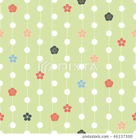 Cherry blossom flower pattern vector.abstract,art, 46237300