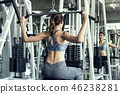 asian woman exercise in gym. healthy lifestyle 46238281