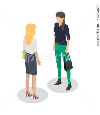 Secretary and Client Meeting Vector Illustration 46238671