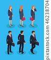 Woman and Businessman Set Vector Illustration 46238704