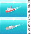 Steamboats Marine Transport Vessel Sailing in Sea 46238770