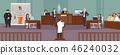 Court hearing vector 46240032