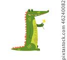 crocodile, animal, cartoon 46240082