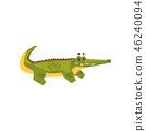 crocodile, animal, cartoon 46240094