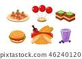 food, menu, icon 46240120