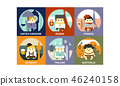 Flat vector set of representatives of different countries. People in national clothes with 46240158