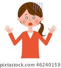 眨眼上半身的女性主婦 46240159