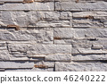 Wall with Rectangular white Stones - Background 46240222