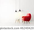 单人沙发 安乐椅 室内装饰 46240420
