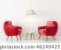 单人沙发 安乐椅 室内装饰 46240425