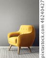 单人沙发 安乐椅 室内装饰 46240427