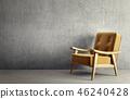 单人沙发 安乐椅 室内装饰 46240428
