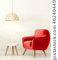 单人沙发 安乐椅 室内装饰 46240449