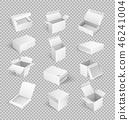 Packages Boxes Opened Top Isolated Icon Vector 46241004