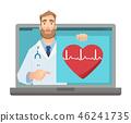 Online medicine concept 46241735