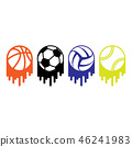 sport, ball, vector 46241983