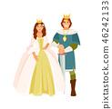 Prince and Princess vector 46242133