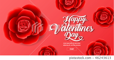 Valentine's day , Red Roses Background 46243613
