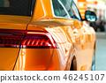 view car headlights modern  Audi q7 yellow color 46245107