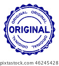 stamp, vector, quality 46245428