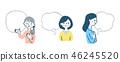 여성, 여자, 말풍선 46245520