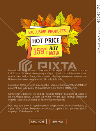 Exclusive Fall Products Buy Now Super Price Poster 46249474