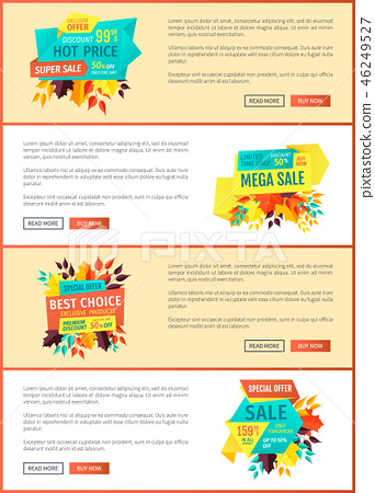 Exclusive Price Offer Posters Vector Illustration 46249527