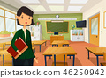 Woman teacher at college or school classroom 46250942
