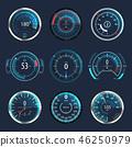 speedometer, speed, vector 46250979