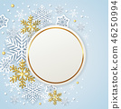 Christmas snowflake background 46250994