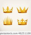 Crown golden vector 46251106