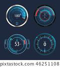 speedometer, vector, modern 46251108