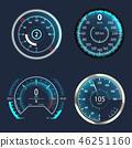 speedometer, vector, modern 46251160