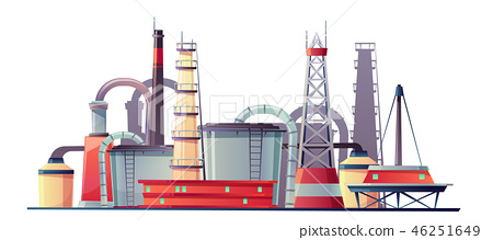 Vector fuel industry refinery plant, oil station 46251649