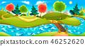 river, vector, landscape 46252620