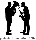 Silhouette of musician playing the saxophone  46252782