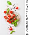 Organic Cherry Sugardrop Tomatoes on the Vine  46252886