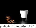 cookie, milk, food 46253523