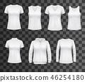 Women white tank top t-shirts, sportswear mockups 46254180