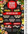 sushi menu asian 46254238