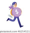 Man Running With Money 46254521