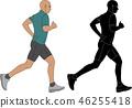 跑步 奔跑者 馬拉松賽跑 46255418