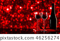 Red wine with bokeh Background. 46256274