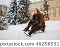 Girl in a winter park 46256531
